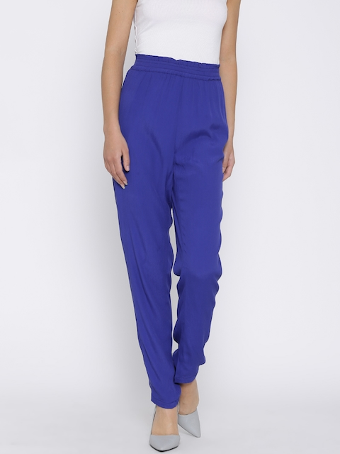 Madame Blue Casual Trousers