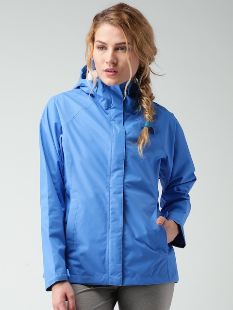 The North Face Blue Windcheater Hooded Jacket
