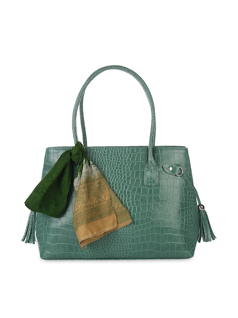 Dice Green Shoulder Bag with Scarf