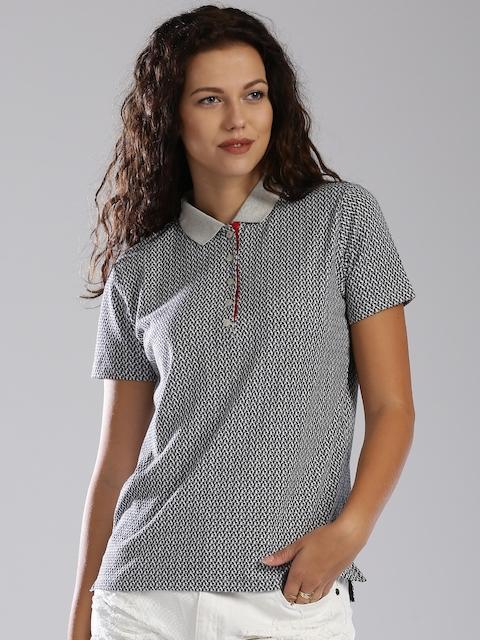 Tommy Hilfiger Grey Printed Polo T-shirt