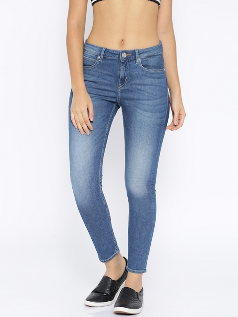 Lee Blue Washed Holly Ank Slim Jeans