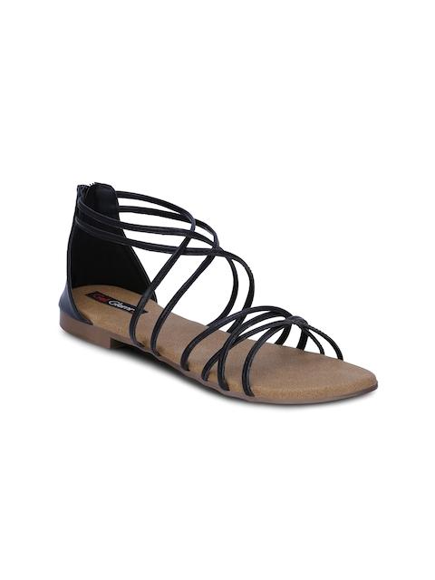 Get Glamr Women Black Solid Flats