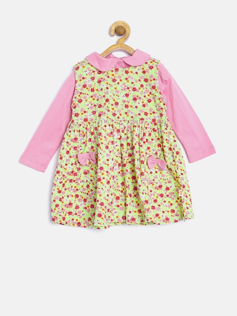 Baby League Girls Lime Green & Pink Clothing Set