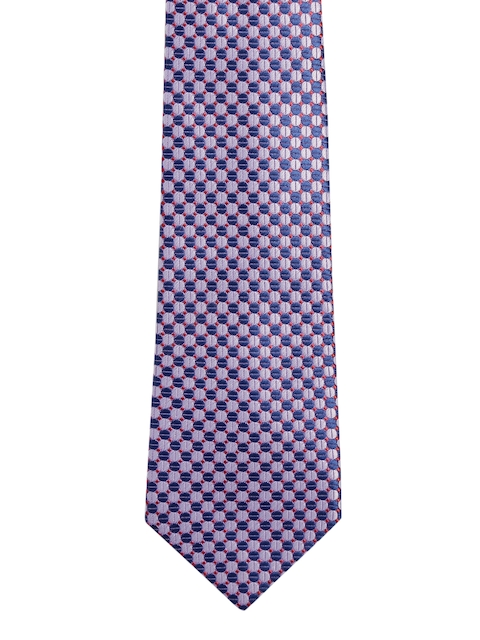 Peter England Statements Red & Blue Dotted Pattern Tie