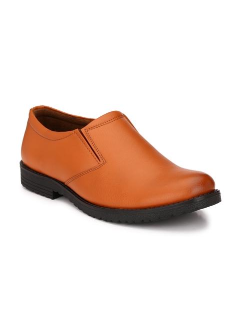 John Karsun Men Tan Brown Semiformal Shoes