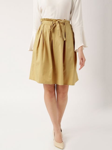 all about you from Deepika Padukone Beige A-Line Pleated Skirt