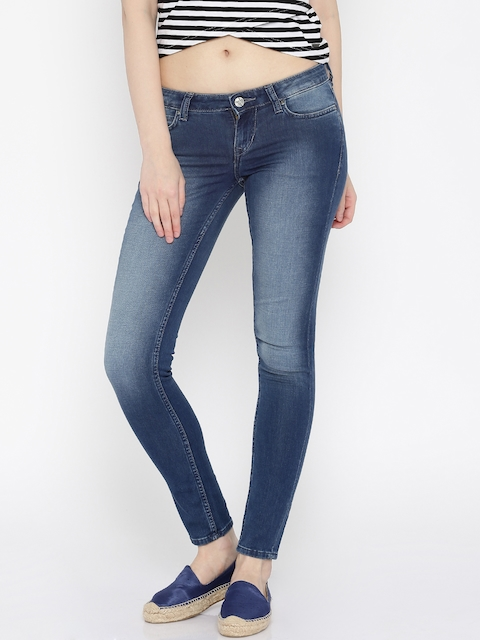 Lee Women Blue Amy Slim Fit Low Rise Clean Look Jeans