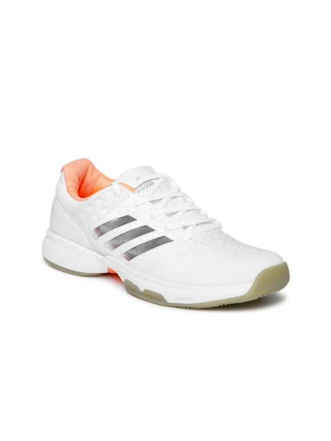 Adidas Women White Adizero Ubersonic 2 Tennis Shoes