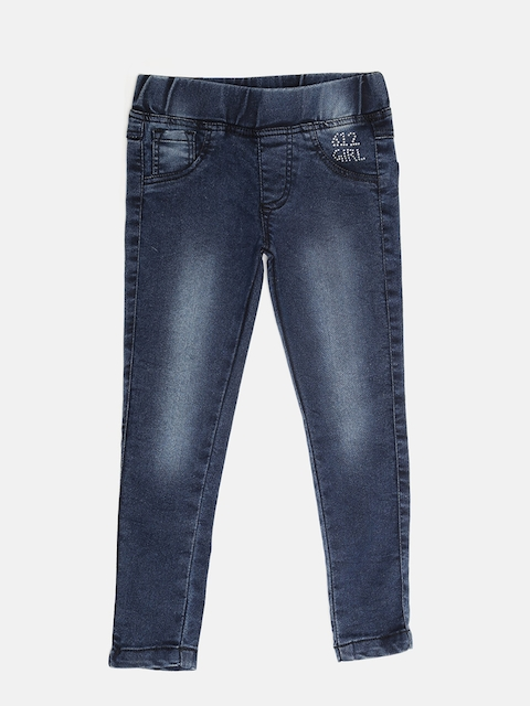 612 league Girls Navy Washed Jeggings