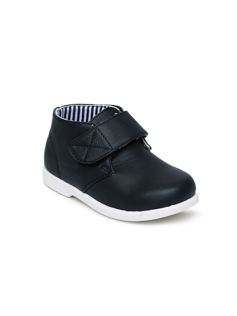 Kittens Boys Black Mid-Top Sneakers