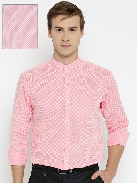 Park Avenue Men Pink Slim Fit Printed Formal Shirt