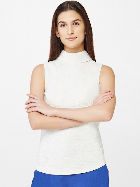 AND Women Off-white Solid Top