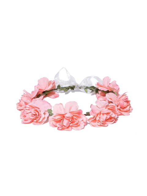 The Hairklip Peach-Coloured Rosette Hair Wreath