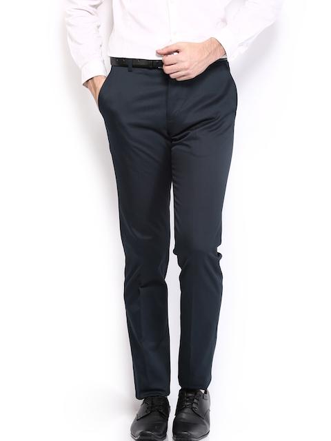 U.S. Polo Assn. Men Navy Slim Fit Formal Trousers