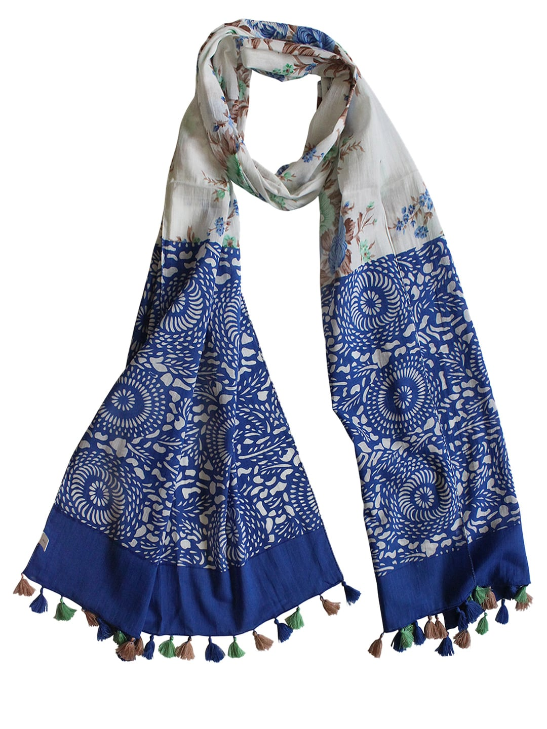 Vozaf Women Blue Printed Stole