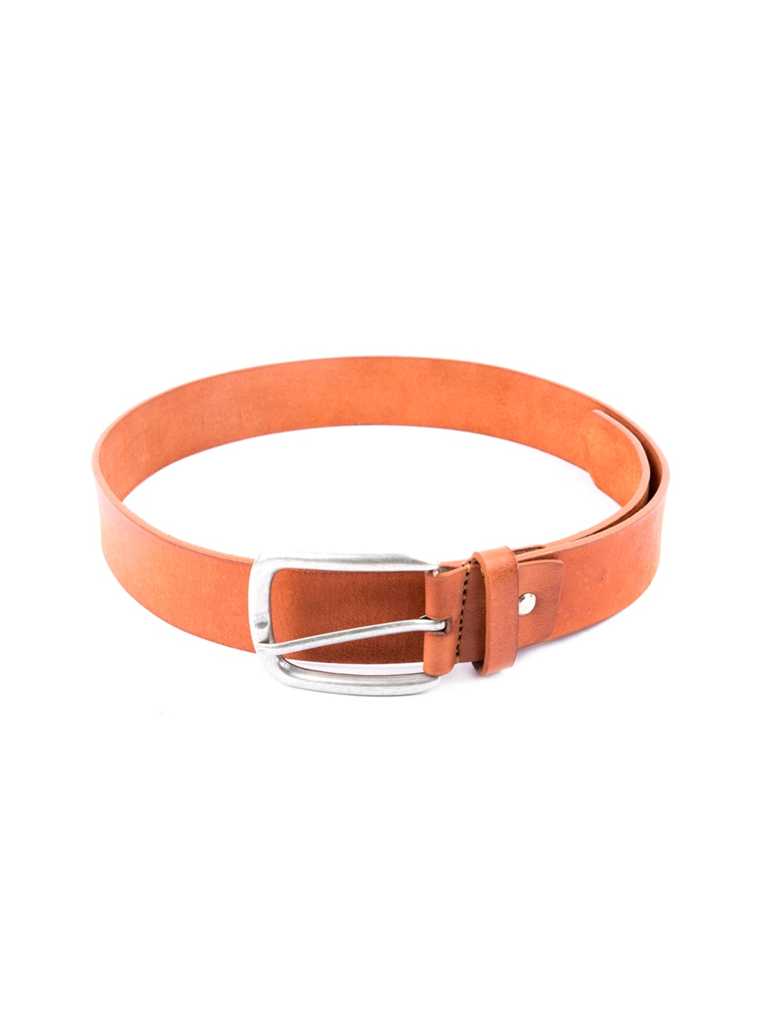 Pacific Gold Men Tan Brown Leather Belt