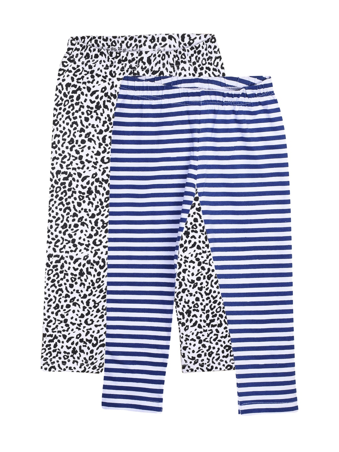 naughty ninos Girls Pack of 2 Printed Capris