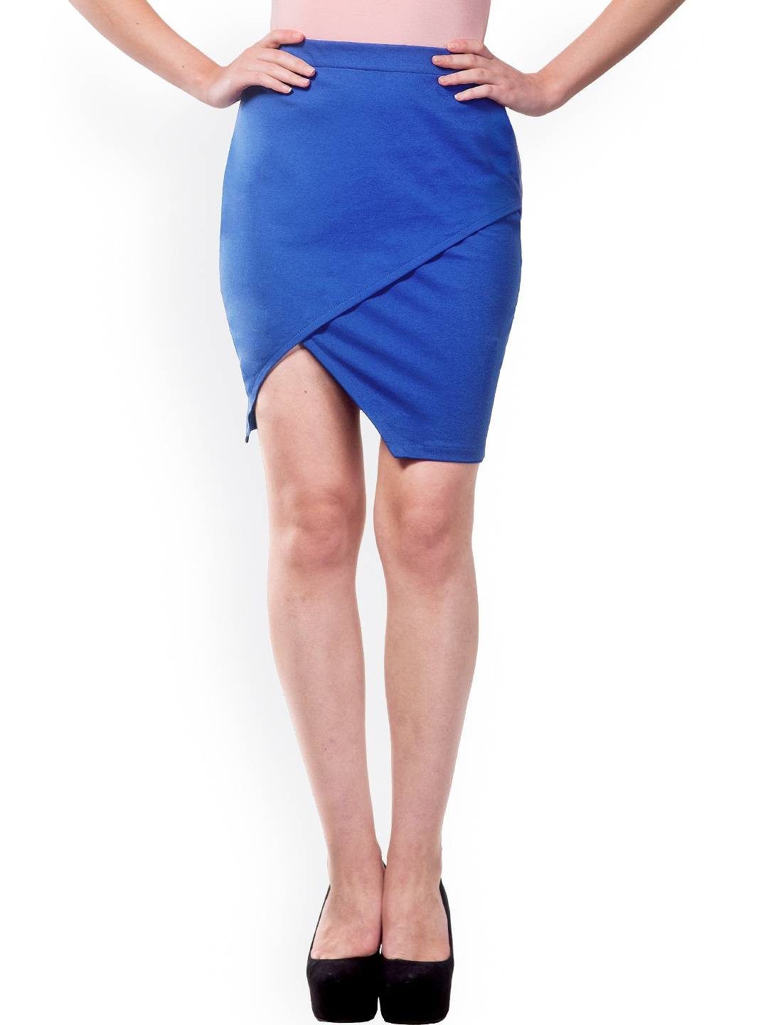Miss Chase Blue Pencil Skirt