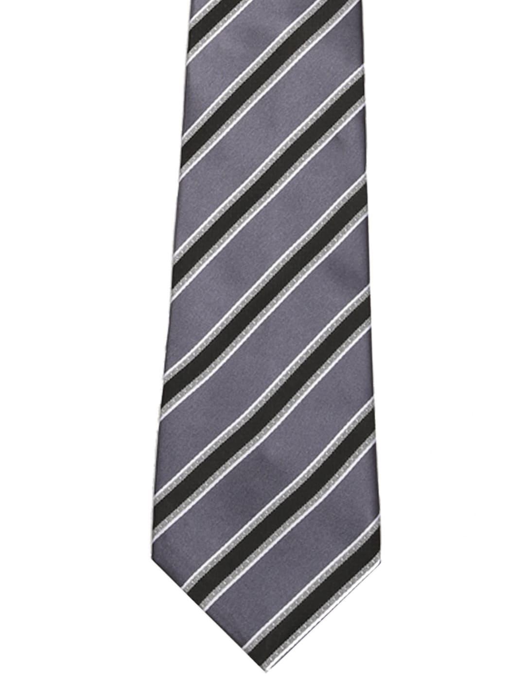 Tossido Men Grey Striped Tie