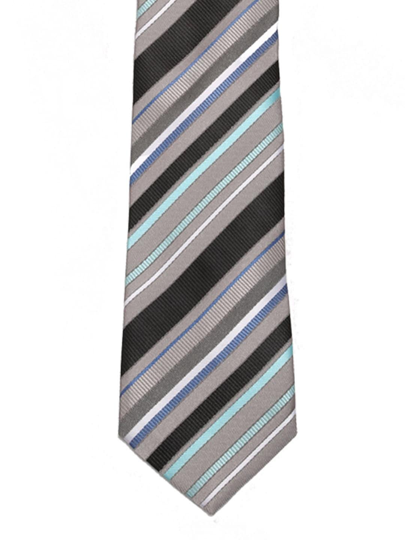 Tossido Grey Striped Tie