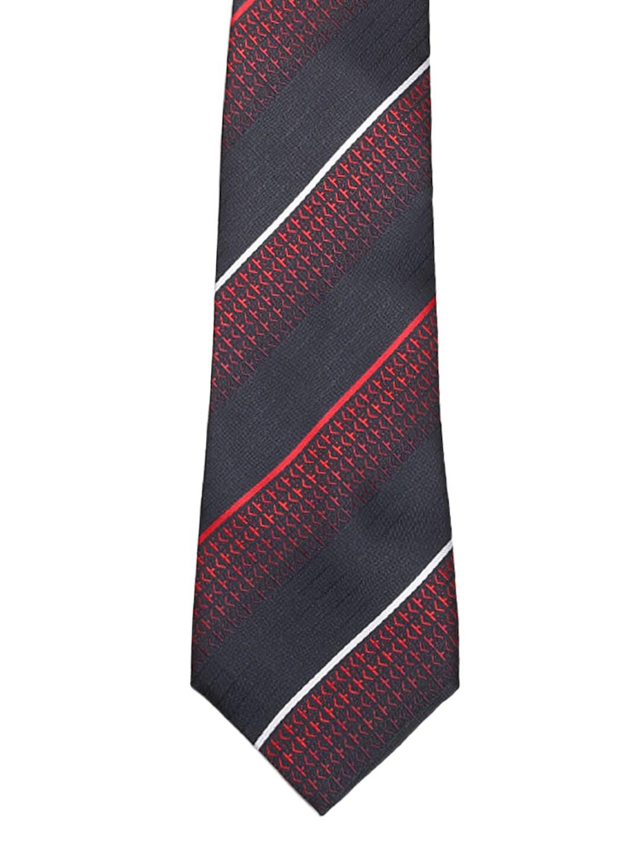 Tossido Black & Red Striped Tie