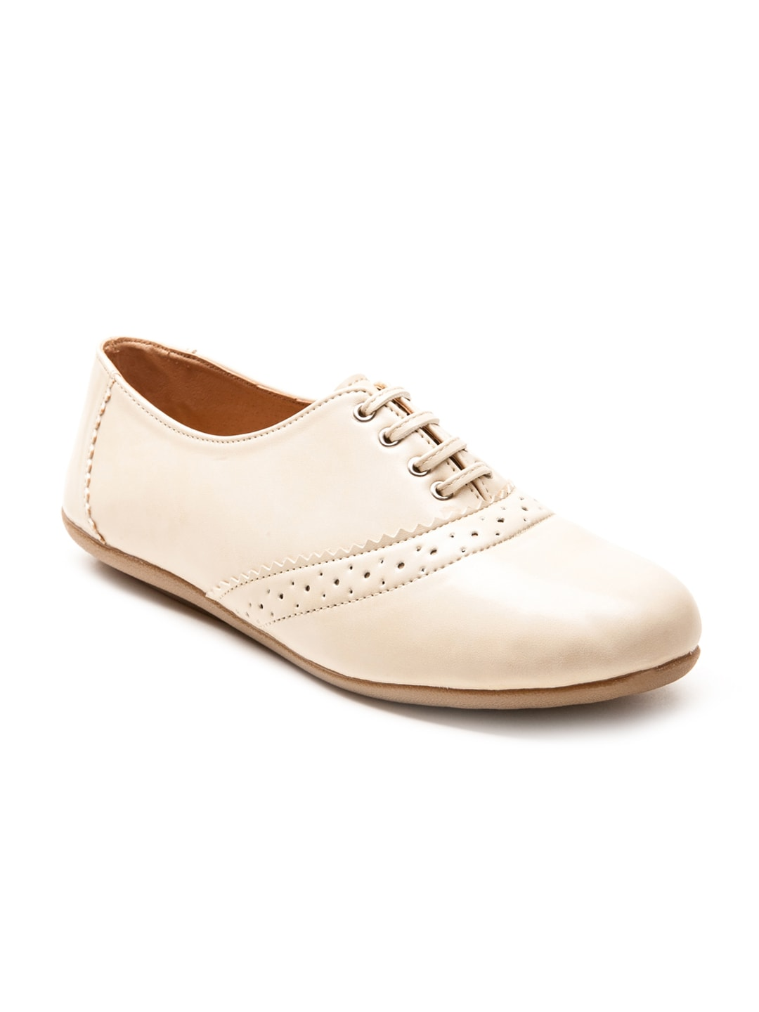 Marc Loire Women Cream-Coloured Casual Shoes