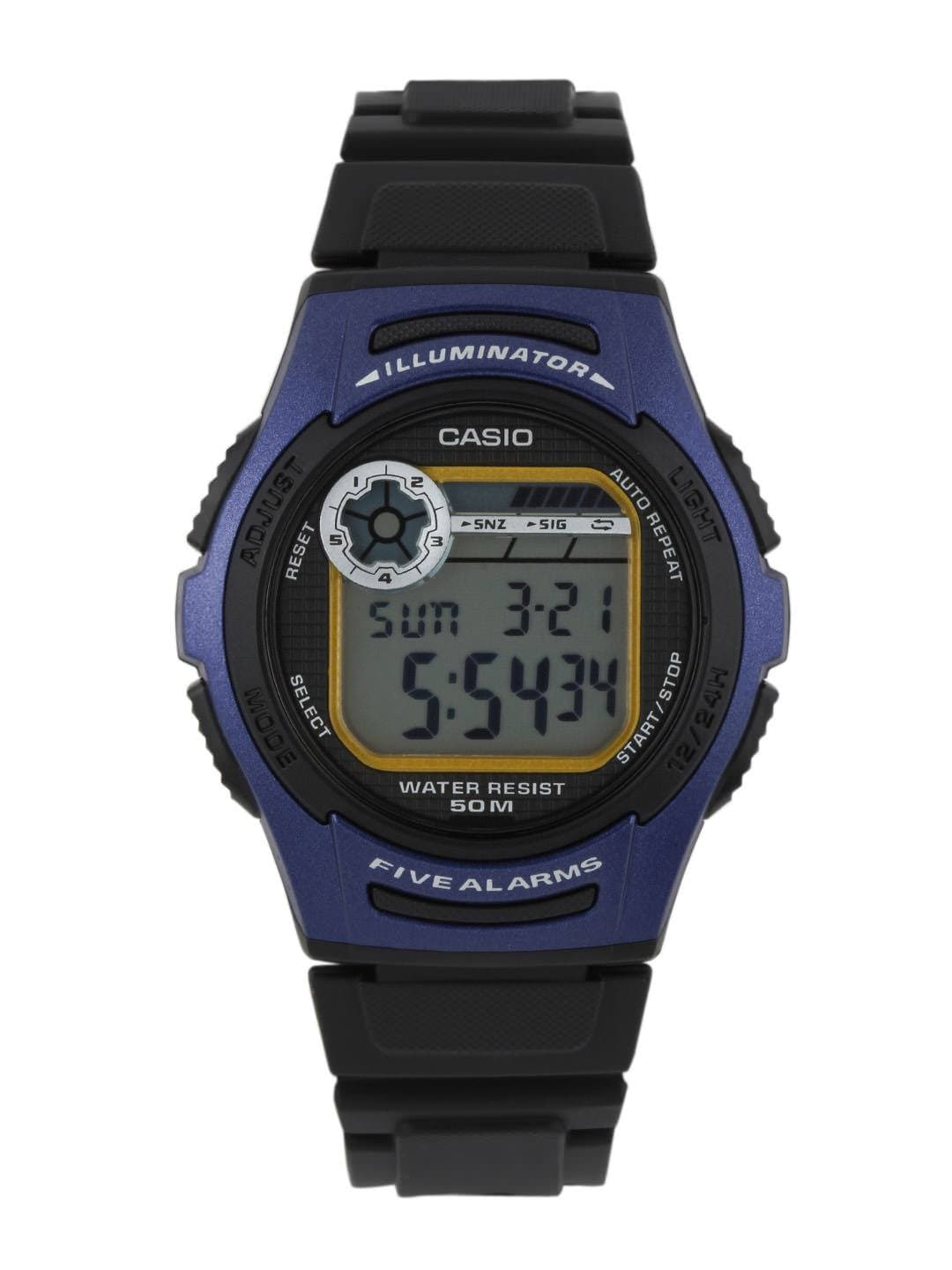 Casio Youth Series Men Black & Blue Digital Watch D066