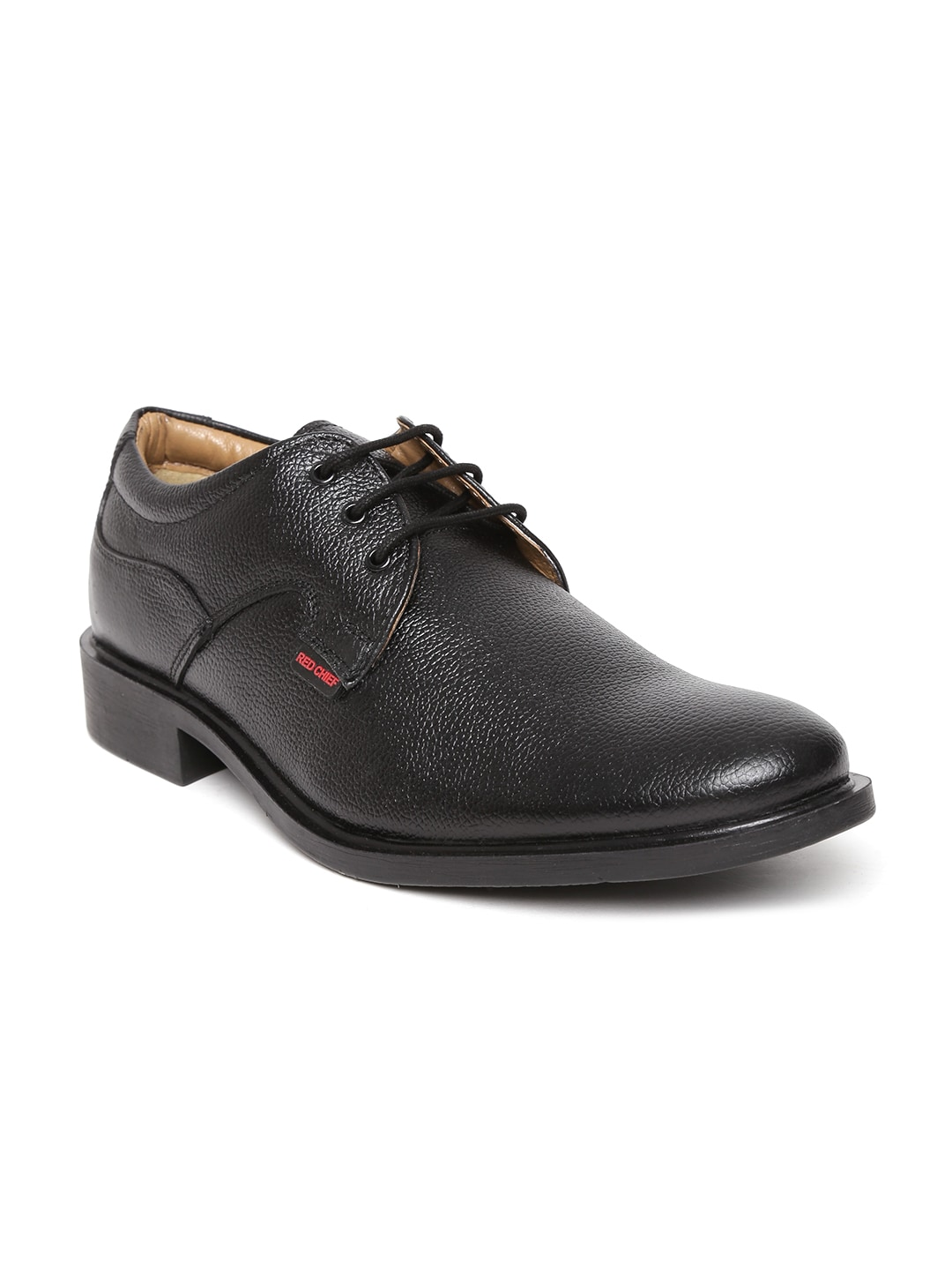 Buy Red Chief Men Black Leather Formal Shoes - 633