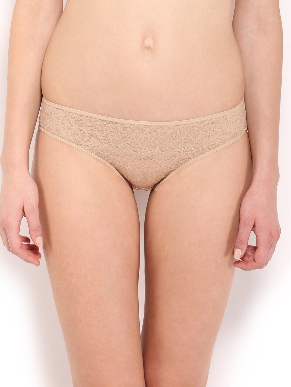 Amante Women Nude-Coloured Lace Briefs PCFR21