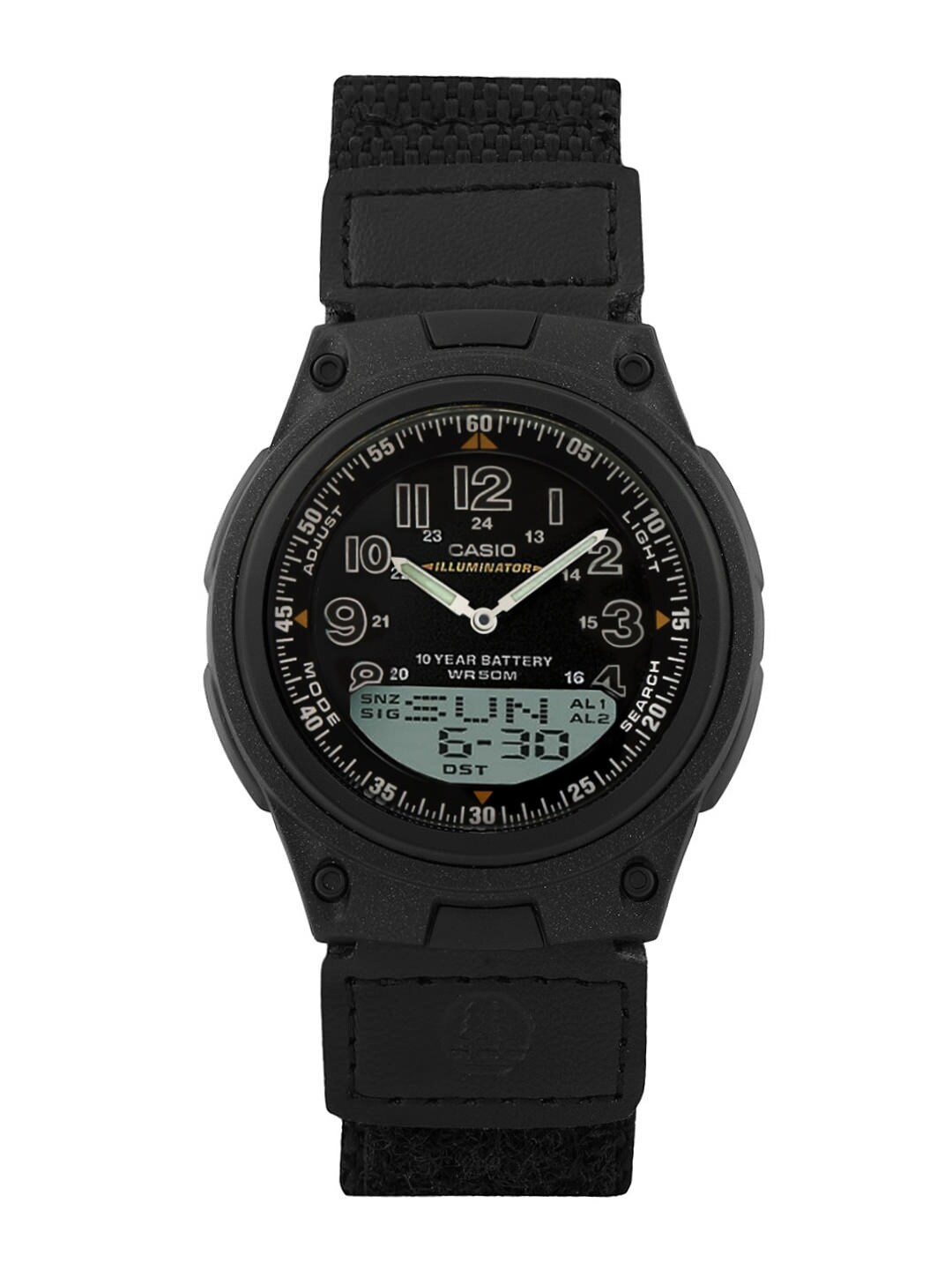 Casio Youth Combination Men Black Analogue-Digital Watches (AD126) AW-80V-1BVDF