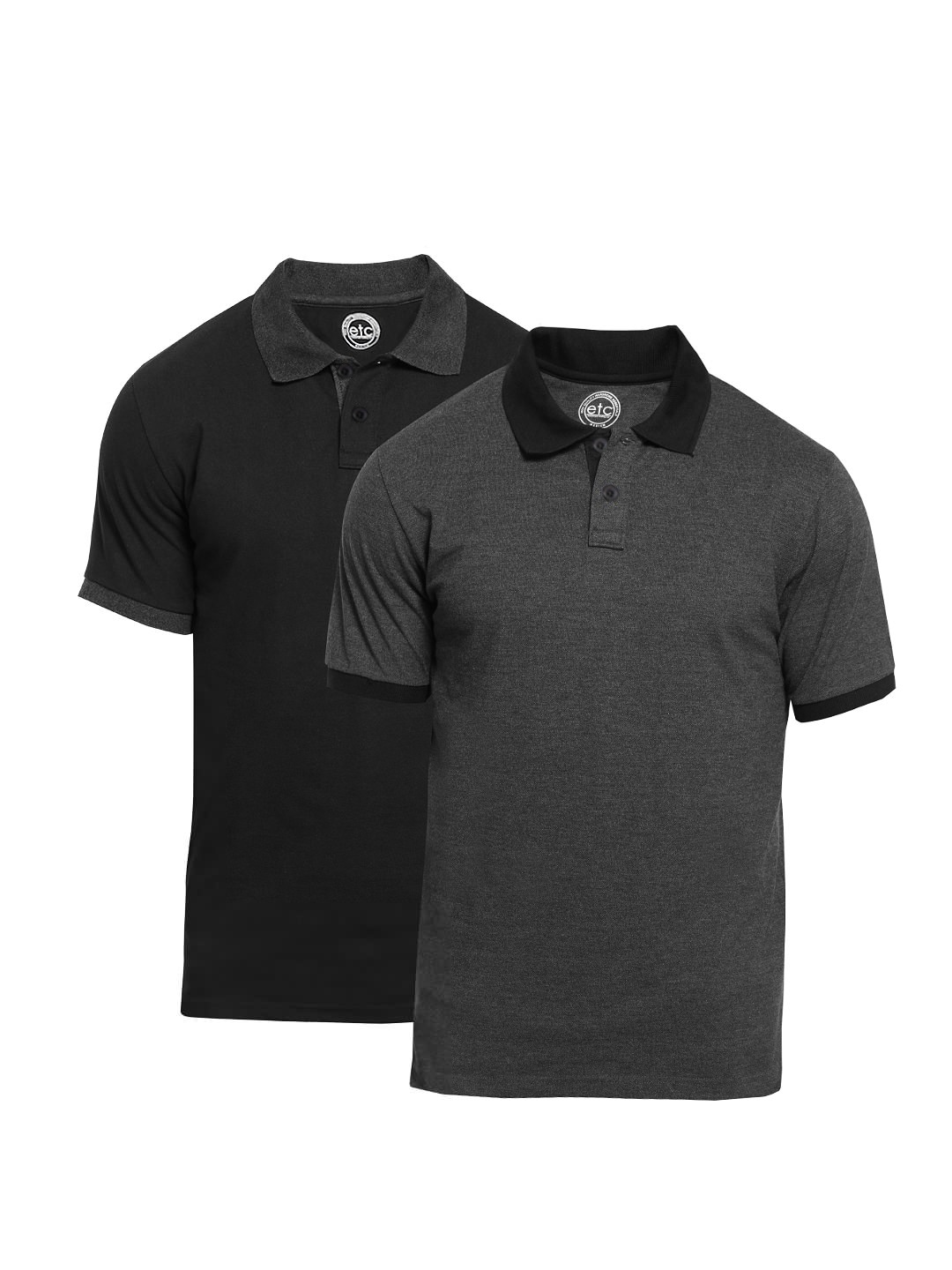418f528fb Etc Premium Solid Mens Polo Neck T Shirt(pack Of 2) - DREAMWORKS