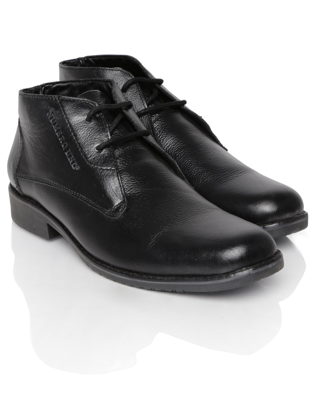 buy numero uno black leather casual shoes 632