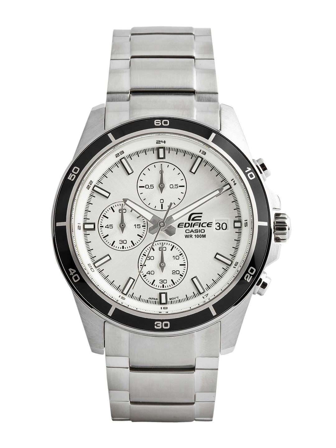 CASIO Edifice Men Chronograph White Dial Watch EX095