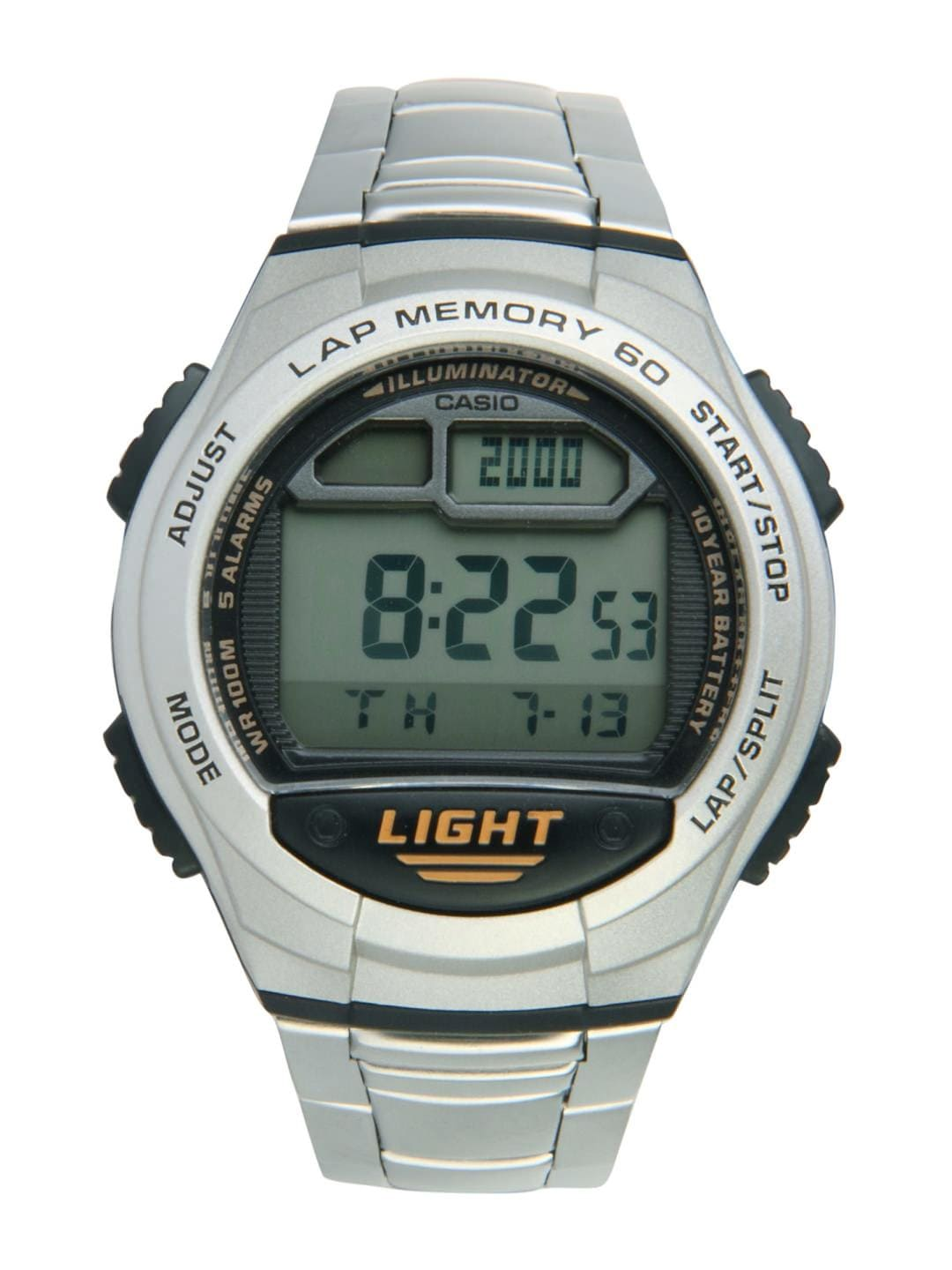 Casio Men Steel-Toned Digital Watch D091