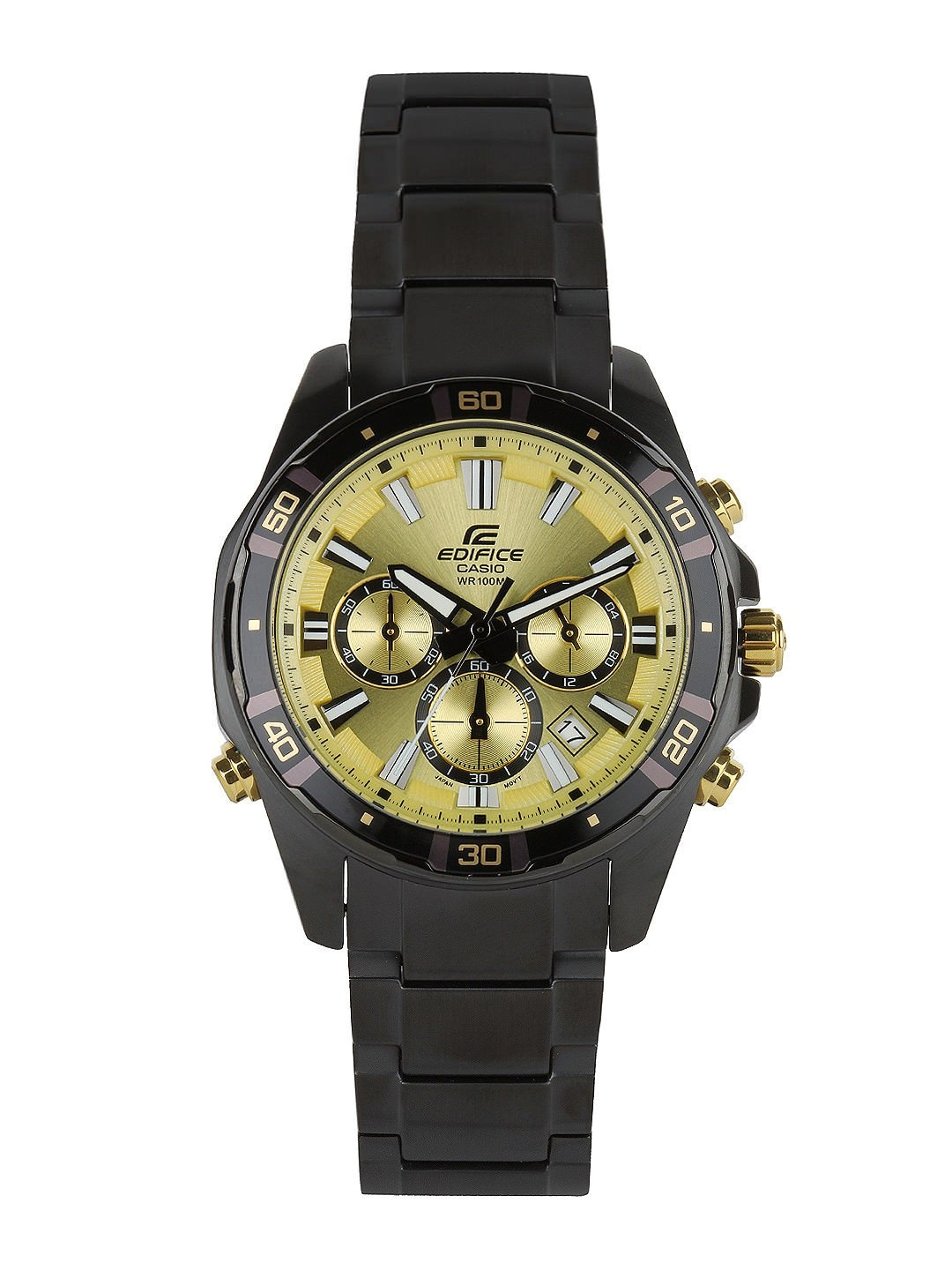 Casio Edifice Men Gold toned Dial Watch EX173