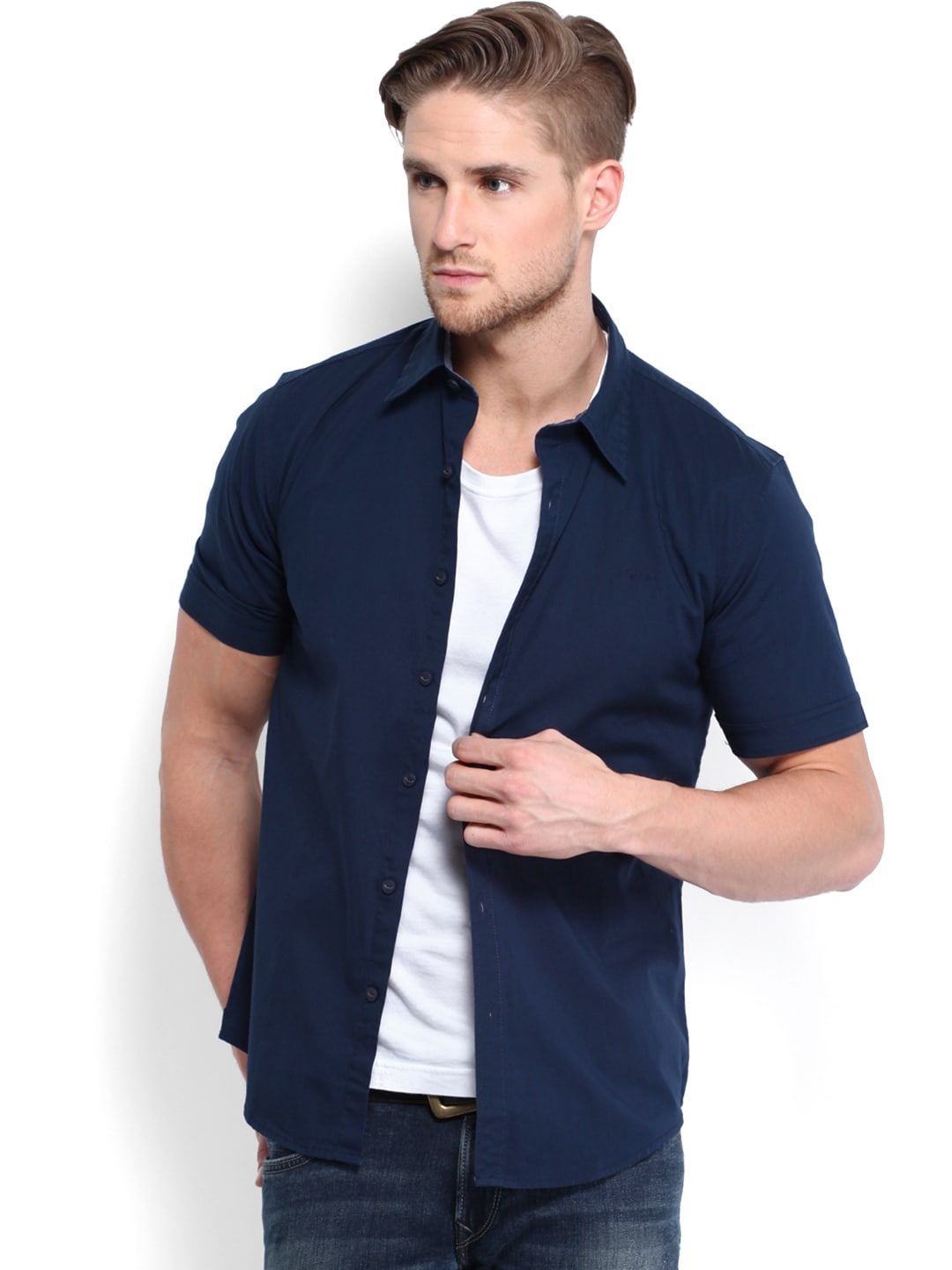 Buy Pepe Jeans Men Navy Blue Casual Shirt Shirts For Men