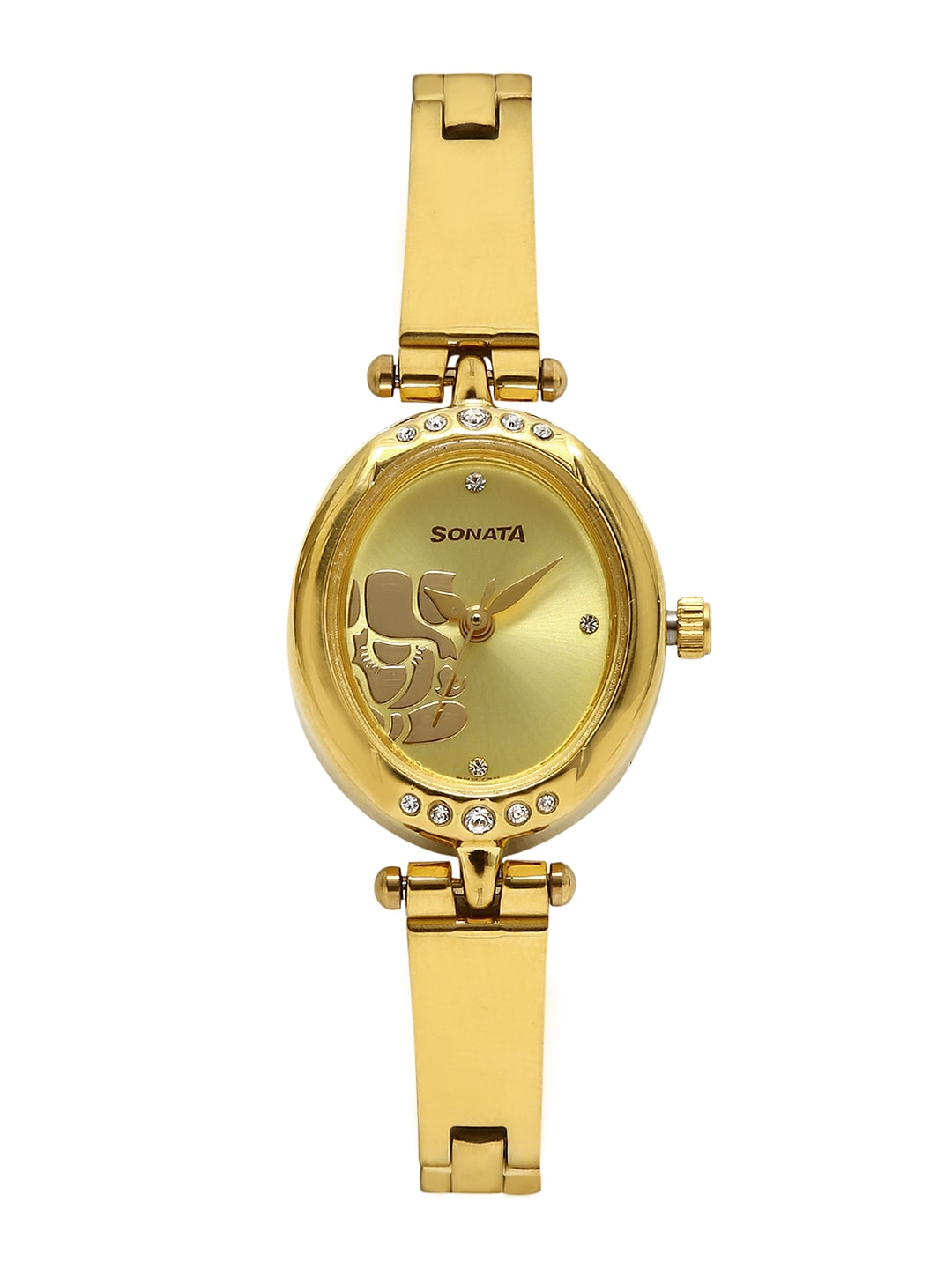 Sonata Sona Sitara Women Gold-Toned Dial Watch 8118YM01