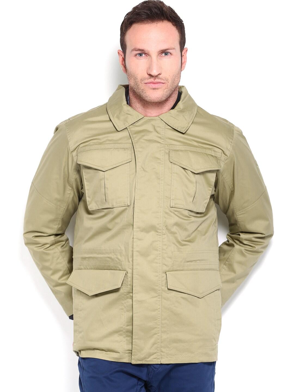 Timberland Timberland Men Beige & Black Dual Jacket (Beige\/Sand\/Tan)
