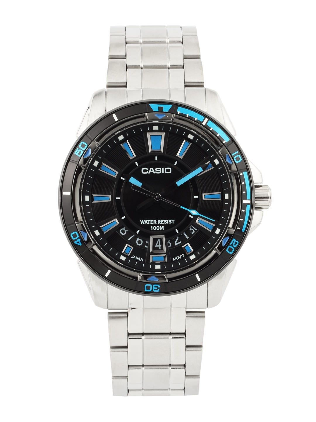Casio Enticer Men Silver Analogue Watches (A502) MTD-1066D-1AVDF
