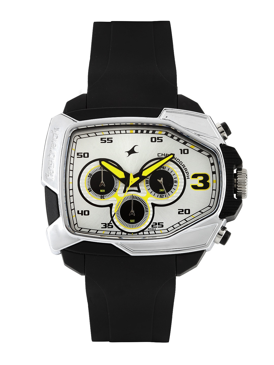 Fastrack Fastrack Men Silver-Toned Dial Watch 38005PP01J