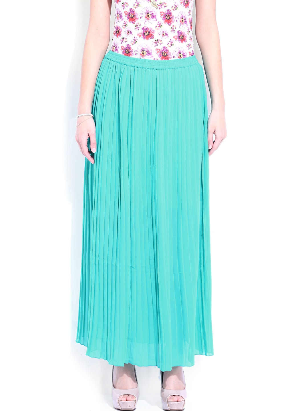 buy dressberry green pleated maxi skirt 304 apparel
