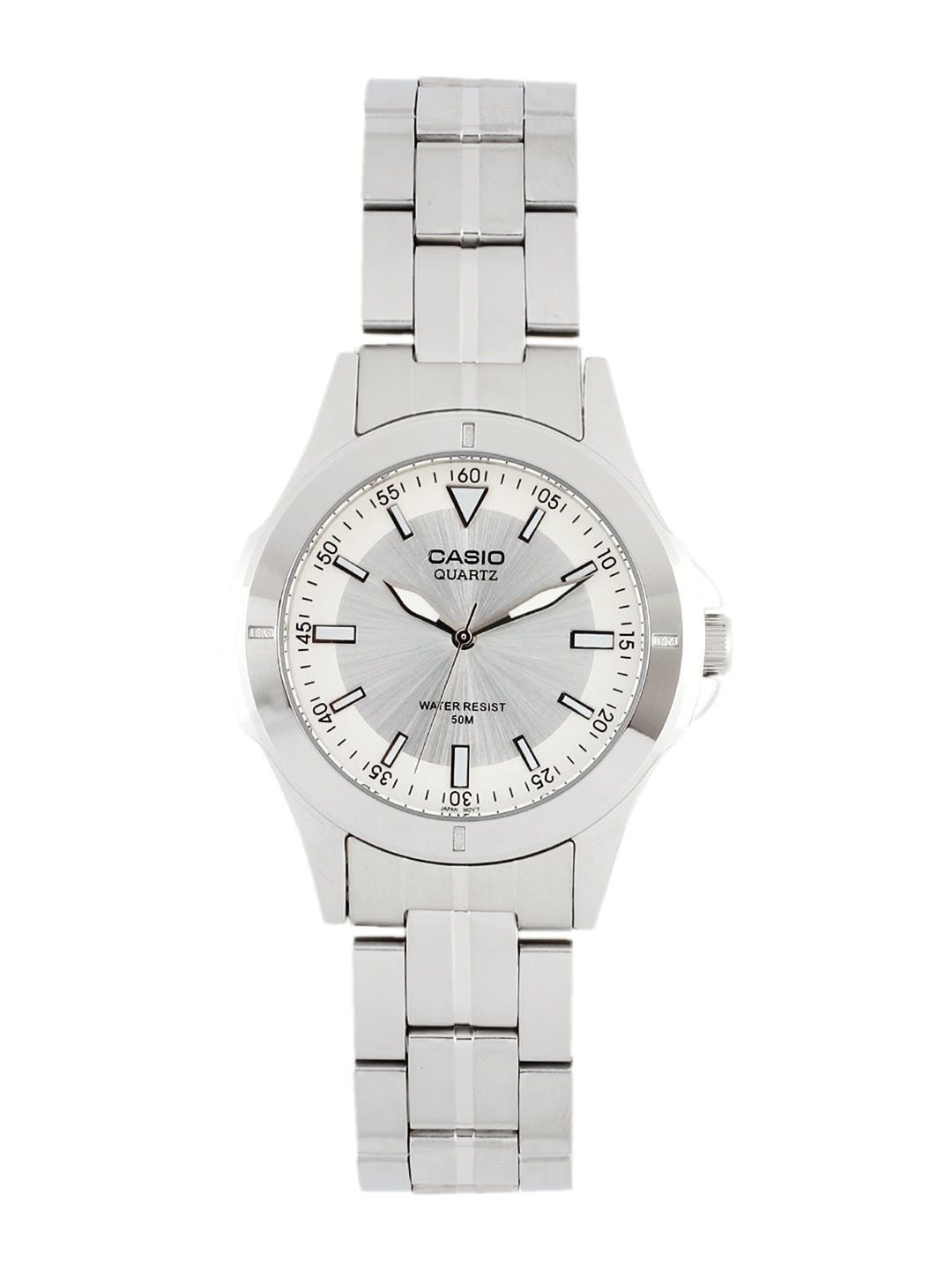 CASIO Men Silver-Toned Dial Watch A344