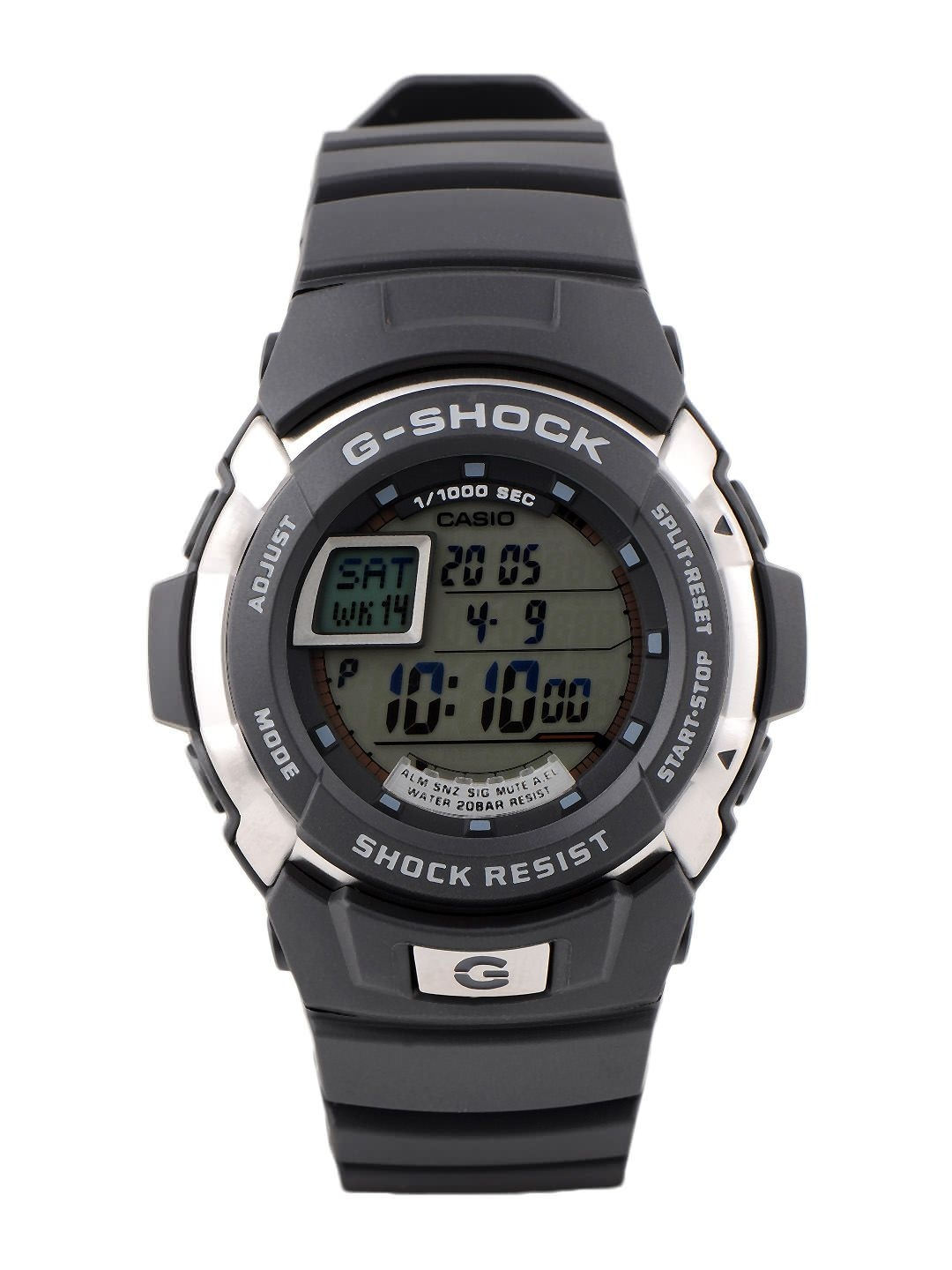 Casio Men Black Digital Watch G222