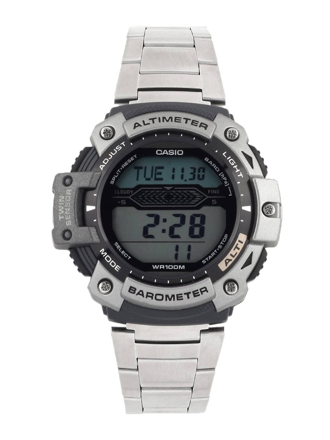 Casio Men Steel-Toned Digital Watch S061