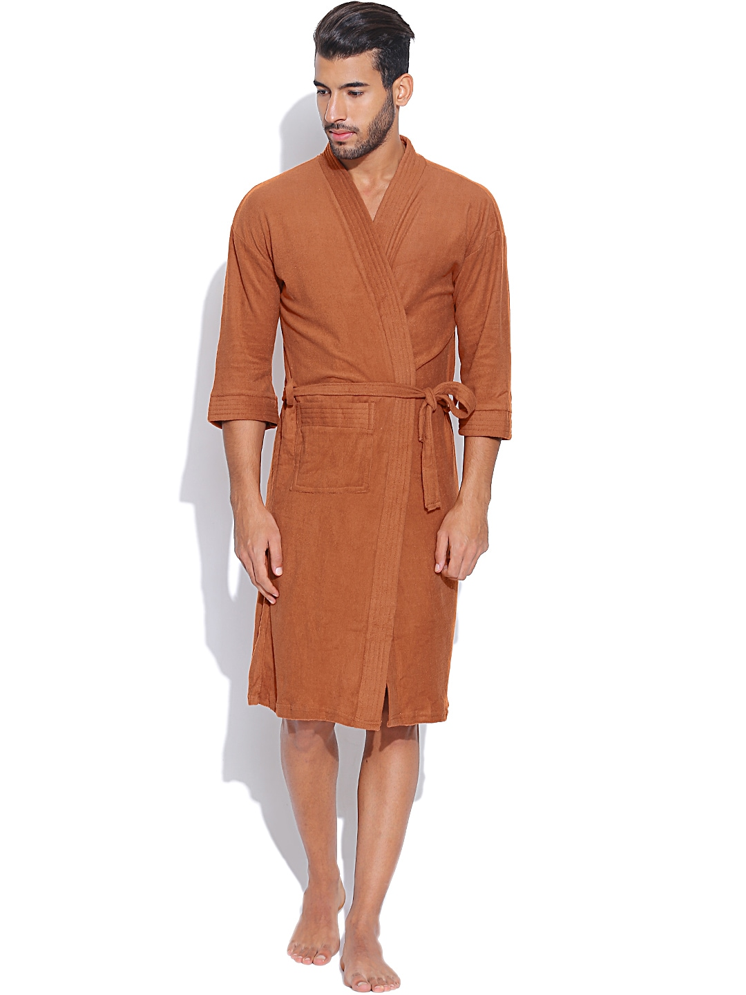 Sand Dune Rust Orange Bathrobe