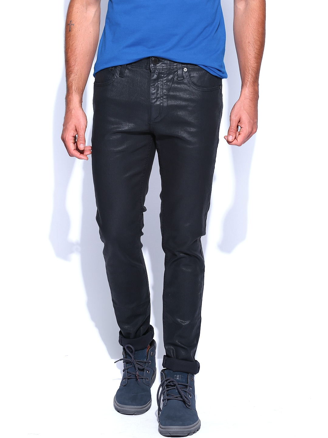 Jack & Jones Men Black Skinny Fit Jeans