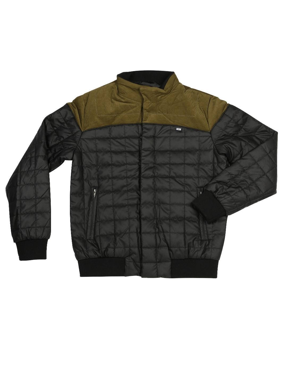 Arrow Sport Men Black & Green Quilted Jacket