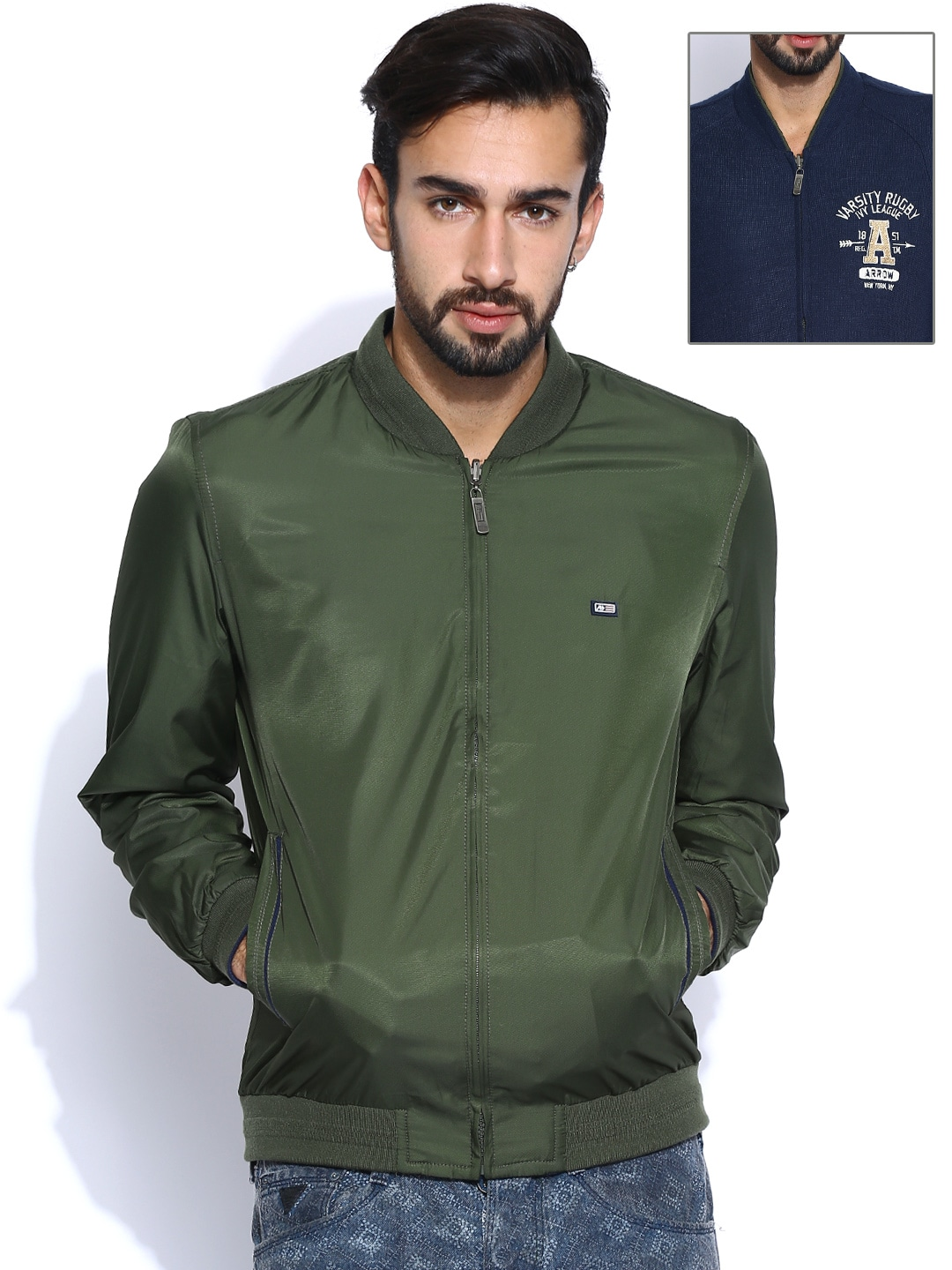 Arrow Sport Dark Green & Navy Reversible Jacket