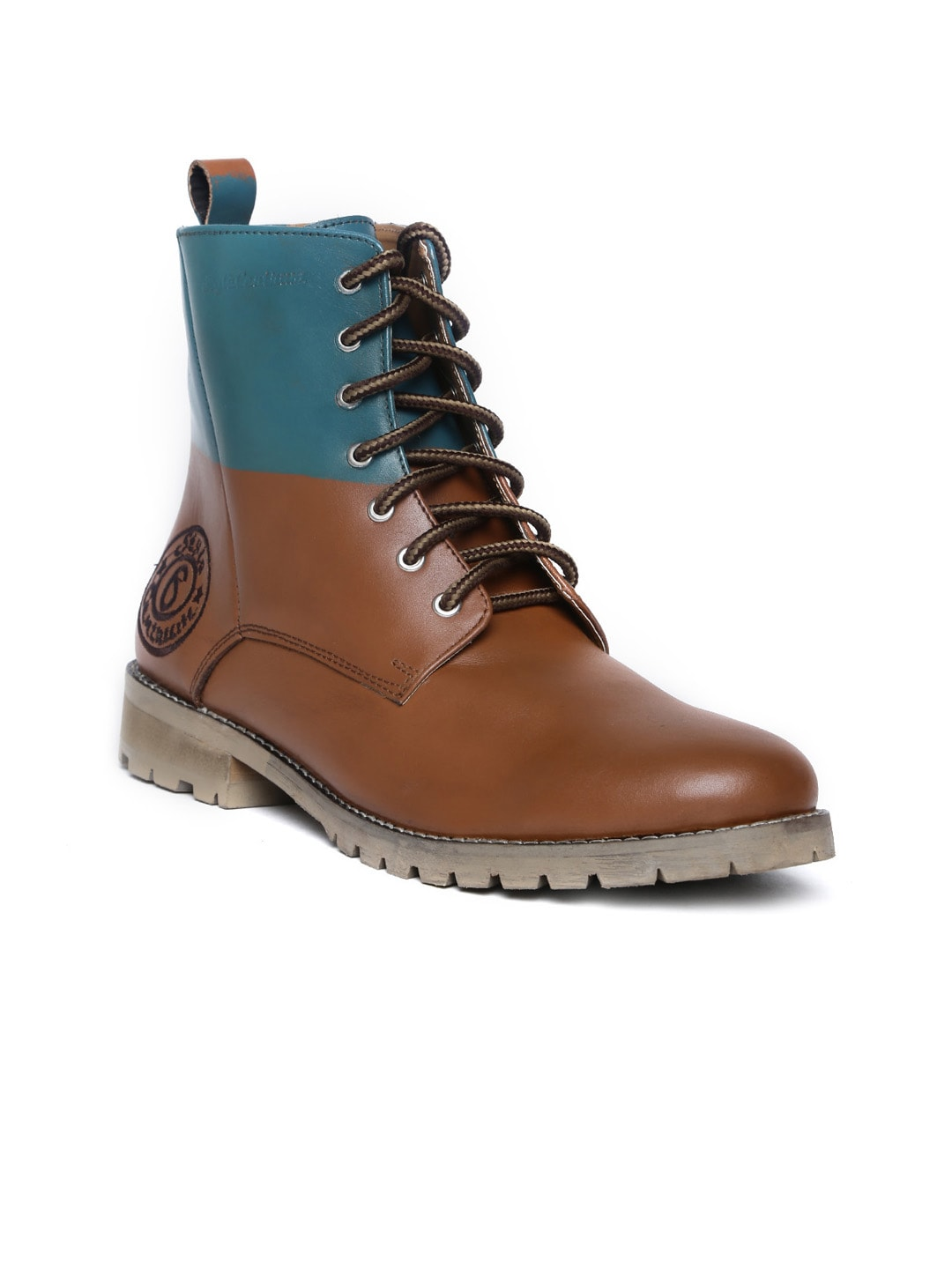 Style Centrum Men Brown Leather Boots