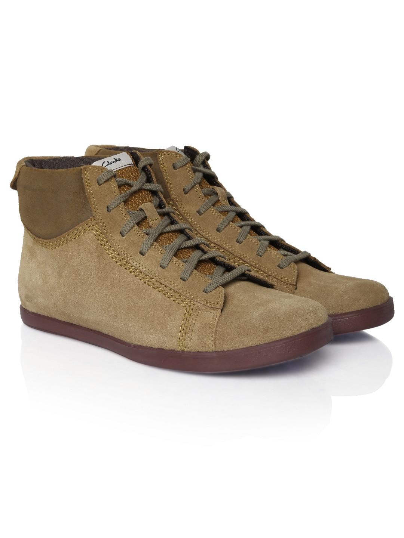 Clarks Men Camel Brown Suede Boots